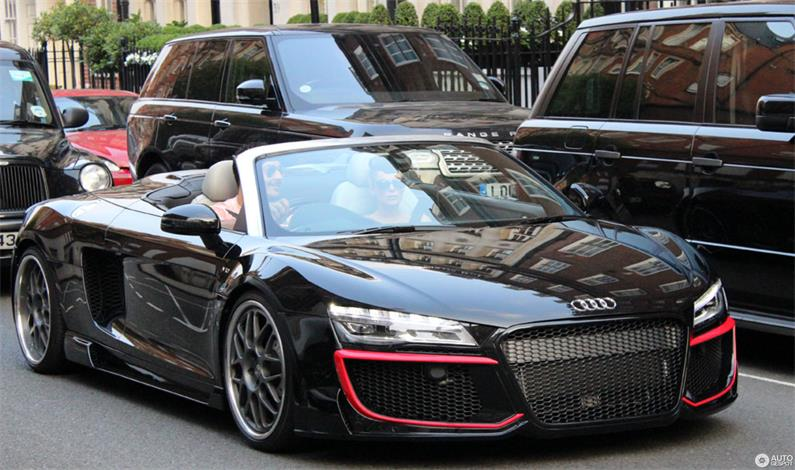 Te Audi  R8  jest tak szybkie jak Bugatti!...