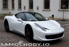 ferrari 458 italia 458 italia, carbon, fv vat, biała perła / czarnym dach