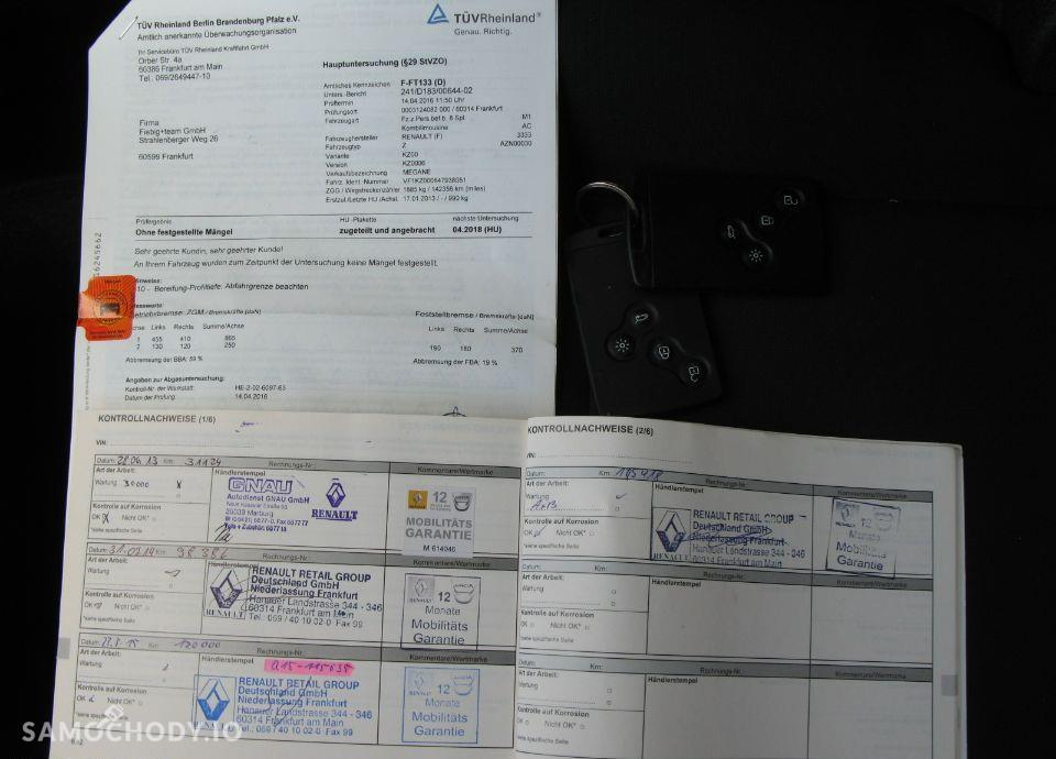 Renault Megane 1.6 dci 130 KM 166 tyś km !!! LIFT Ledy Duża Kolorowa Nawigacja 79