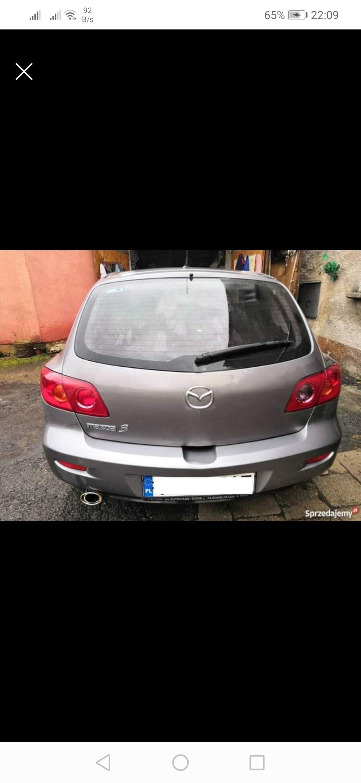 Mazda 3 I (2003-2009) Mazda 3 1.6 16V Benzyna BK 2003r. wersja EXCLUSIVE  4